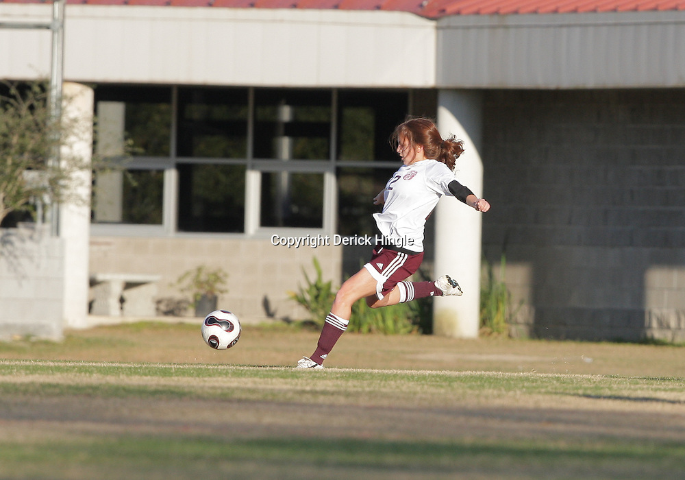 2 December 2008: St. Thomas Aquinas  Casey Abreu (#22) during the St. Thomas Lady Falcons 5-2 loss to Country Day in a non-district soccer match at Falcons Soccer Field in Hammond, LA.
