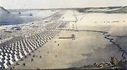 Mexican-American War 1846-1848:    US troops under  General Zachary Taylor encamped at Corpus Christi (Kinney's Trading Post) on the coast of Southern Texas.  The camp was set up in July 1845 in anticipation of the war with Mexico  and was struck in March 1846.