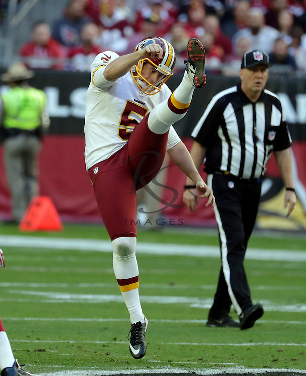 Washington Redskins punter Tress Way (5) during an NFL football game against the Arizona Cardinals, Sunday, Dec. 4, 2016, in Glendale, Ariz. (AP Photo/Rick Scuteri)