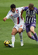 Yoann Gourcuff of Lyon and Etienne Didot. Toulouse v Lyon (2-0), Ligue 1, Stade Municipal, Toulouse, France, 1st May 2011.