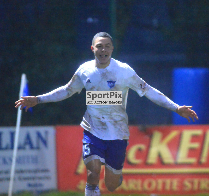 Peterhead's Leighton McIntosh celebrates his side's fifth goal at Stair Park......(c) BILLY WHITE | SportPix.org.uk