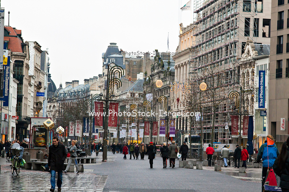 The Meir shopping street in Antwerpen, Belgium