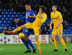 Ben Pearson of Preston North End tackles Kenneth Zohore of Cardiff City - Mandatory by-line: Nizaam Jones/JMP - 29/12/2017 -  FOOTBALL - Cardiff City Stadium - Cardiff, Wales -  Cardiff City v Preston North End - Sky Bet Championship