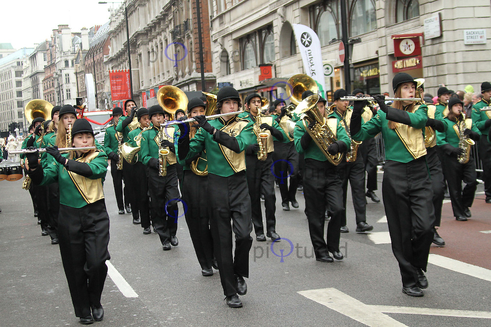 La Costa Canyon High School Maverick Brigade London's New Year's Day Parade, City of Westminster, London, UK, 01 January 2011:  Contact: Ian@Piqtured.com +44(0)791 626 2580 (Picture by Richard Goldschmidt)