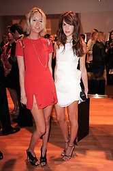 Left to right, the HON.SOPHIA HESKETH and CAROLINE SIEBER at a party to celebrate the B.zero 1 design by Anish Kapoor held at Bulgari, 168 New Bond Street, London n 2nd June 2010.