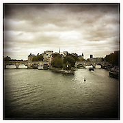10-10-11 --- The view from Pont des Arts towards Ile de la Cite and Pont Neuf.