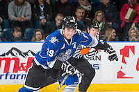 KELOWNA, CANADA - DECEMBER 30: Chaz Reddekopp #29 of the Victoria Royals skates against the Kelowna Rockets on December 30, 2016 at Prospera Place in Kelowna, British Columbia, Canada.  (Photo by Marissa Baecker/Shoot the Breeze)  *** Local Caption ***