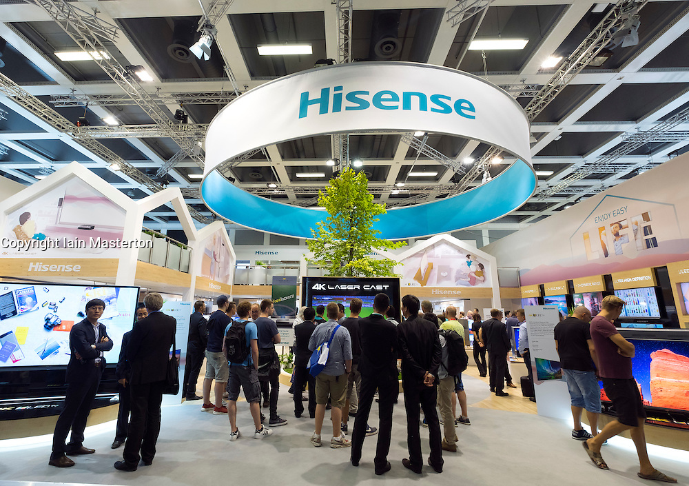 Hisense stand at 2016  IFA (Internationale Funkausstellung Berlin), Berlin, Germany