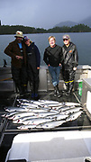 Salmon fihing, Talon Lodge & Spa, Sitka, Alaska, USA