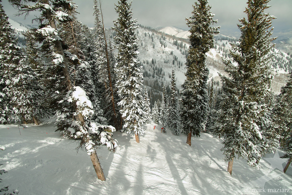 winter scenic of The Canyons, Park City, Utah