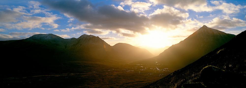Glen Etive Sunset, Glenoce, Scotland