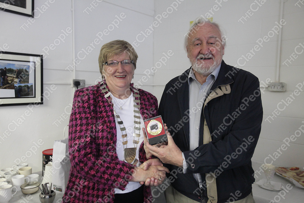 Mayor Mary Brennan and Paddy O Reilly pictured at the Photo Expo in Ballycasey, Shannon on Friday.<br /> Pic. Brian Arthur/ Press 22.