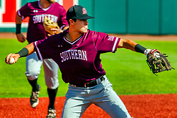 20 May 2019:  Nikola Vasic. Missouri Valley Conference Baseball Tournament - Southern Illinois Salukis v Illinois State Redbirds at Duffy Bass Field in Normal IL<br /> <br /> #MVCSPORTS