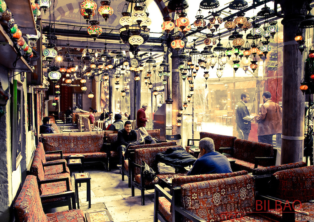 Pavement cafe.<br /> Istanbul, Turkey.