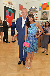 JACKIE ST.CLAIR and CARL MICHAELSON at the annual Royal Academy of Art Summer Party held at Burlington House, Piccadilly, London on 4th June 2014.