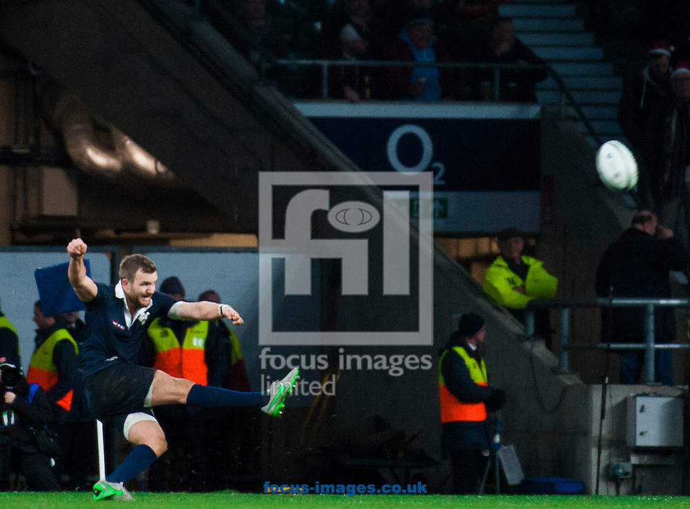 Henry De Berker of Oxford University scores a penalty during the The Mens Varsity Match match at Twickenham Stadium, Twickenham<br /> Picture by Jack Megaw/Focus Images Ltd +44 7481 764811<br /> 10/12/2015