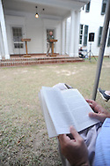 The Reivers, written by Nobel Prize winning author William Faulkner, is read at the late writer's home of Rowan Oak in Oxford, Miss. on Friday, July 6, 2012. Faulkner died 50 years ago on July 6, 1962. Over 100 people are reading from the book to commemorate the occasion.