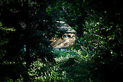 """Big Sur, April 4 2012 - A small house in the forest in the Bixby Creek Bridge area , where Jack Kerouac came to rest and write """"Big Sur"""" in 1961."""