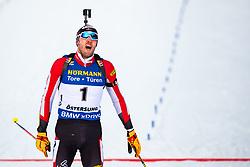 March 9, 2019 - –Stersund, Sweden - 190309 Dominik Landertinger of Austria looks dejected after the Men's 10 KM sprint during the IBU World Championships Biathlon on March 9, 2019 in Östersund..Photo: Johan Axelsson / BILDBYRÃ…N / Cop 245 (Credit Image: © Johan Axelsson/Bildbyran via ZUMA Press)