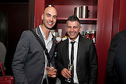 GARY SYKES; DINO VESELI, Streetsmart Reception to celebrate the 2010 campaign at which voluntary £1 was  added to the table bill at the end of a meal at participating restaurants raising £460,000. Groucho club. Dean St. London. 18 April 2011. -DO NOT ARCHIVE-© Copyright Photograph by Dafydd Jones. 248 Clapham Rd. London SW9 0PZ. Tel 0207 820 0771. www.dafjones.com.