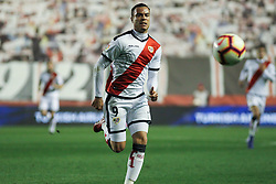 March 1, 2019 - Madrid, Madrid, Spain - Raul de Tomas of Rayo Vallecano in action during La Liga Spanish championship, , football match between Rayo Vallecano and Girona , March 01th, in Estadio de Vallecas in Madrid, Spain. (Credit Image: © AFP7 via ZUMA Wire)
