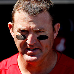 March 05, 2011; Clearwater, FL, USA; Philadelphia Phillies first baseman Jim Thome (25) against the New York Yankees during a spring training game at Bright House Networks Field. Mandatory Credit: Derick E. Hingle-US PRESSWIRE
