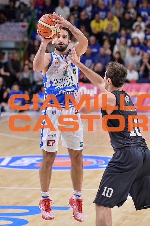 DESCRIZIONE : Beko Legabasket Serie A 2015- 2016 Dinamo Banco di Sardegna Sassari - Pasta Reggia Juve Caserta<br /> GIOCATORE : Rok Stipcevic<br /> CATEGORIA : Tiro Tre Punti Three Point Ritardo<br /> SQUADRA : Dinamo Banco di Sardegna Sassari<br /> EVENTO : Beko Legabasket Serie A 2015-2016<br /> GARA : Dinamo Banco di Sardegna Sassari - Pasta Reggia Juve Caserta<br /> DATA : 03/04/2016<br /> SPORT : Pallacanestro <br /> AUTORE : Agenzia Ciamillo-Castoria/L.Canu