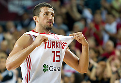 Hidayet Turkoglu of Turkey during the finals basketball match between National teams of Turkey and USA at 2010 FIBA World Championships on September 12, 2010 at the Sinan Erdem Dome in Istanbul, Turkey.  USA defeated Turkey 81 - 64 and became World Champion 2010. (Photo By Vid Ponikvar / Sportida.com)