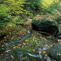 Middlebury, VT.A waterfall on a tributary of Vermont's New Haven River.  Green Mountain National Forest.