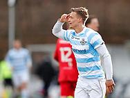 FODBOLD: André Riel (FC Helsingør) jubler efter scoringen til 3-0 under kampen i NordicBet Ligaen mellem FC Helsingør og Nykøbing FC den 12. marts 2017 på Helsingør Stadion. Foto: Claus Birch