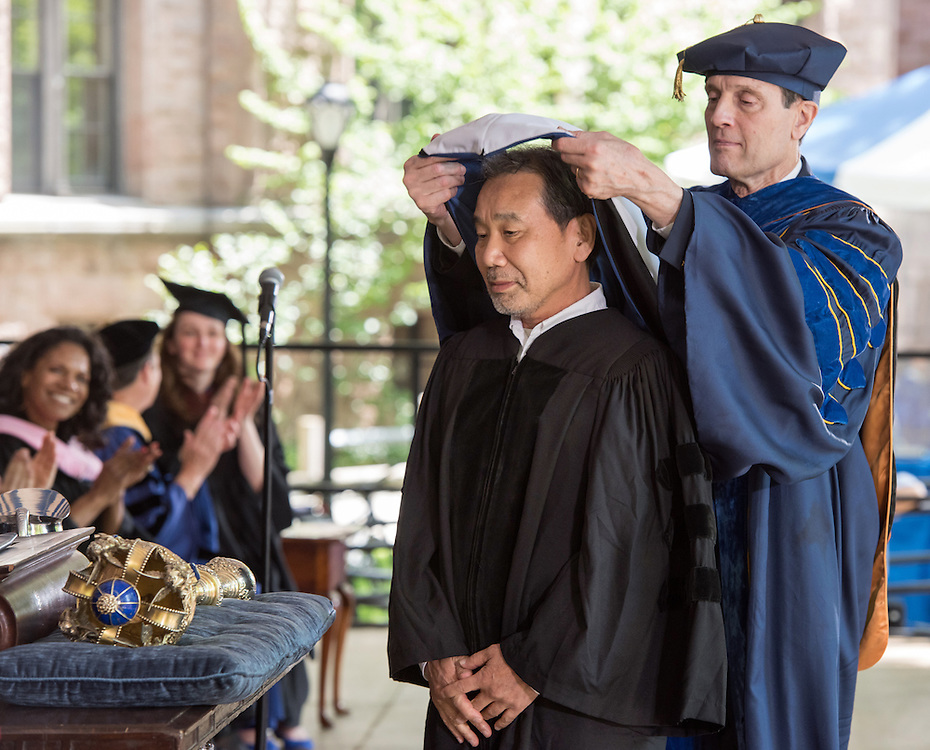 May 23, 2016 New Haven<br /> The Yale University commencement exercises. Author Haruki Marukami receiving his honorary doctorate.