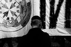 Casapound electoral campaign closing rally at Piazza della Rotonda in Rome on 1 Febraury 2018. Christian Mantuano / OneShot