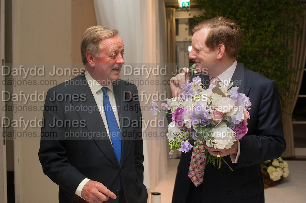 ANDREW PARKER BOWLES; EARL OF DERBY, The Cartier Chelsea Flower show dinner. Hurlingham club, London. 20 May 2013.