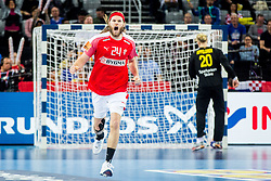 Mikkel Hansen (DEN) during handball match between National teams of Denmark and Sweden in Half Final match of Men's EHF EURO 2018, on January 26, 2018 in Arena Zagreb, Zagreb, Croatia. Photo by Ziga Zupan / Sportida