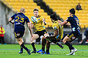 Acionduring the super rugby union  game between Hurricanes  and Highlanders, played at Westpac Stadium, Wellington, New Zealand on 24 March 2018.  Hurricanes won 29-12.