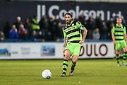 Forest Green Rovers Rob Sinclair(19) plays a pass during the Vanarama National League match between Macclesfield Town and Forest Green Rovers at Moss Rose, Macclesfield, United Kingdom on 12 November 2016. Photo by Shane Healey.