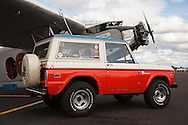 1973 Ford Bronco and Ford Trimotor at McNary Field.