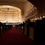"November 25, 2012 - New York, NY : Music director Joshua Gersen, standing on stage, leads the New York Youth Symphony in a rendition of Antonín Leopold Dvo?ák's 'Symphony No. 9 in E minor, Op. 95, B. 178, 'From the New World' (1893)"" as it kicks off its 50th season, in Carnegie Hall's Isaac Stern Auditorium on Sunday afternoon. CREDIT: Karsten Moran for The New York Times"