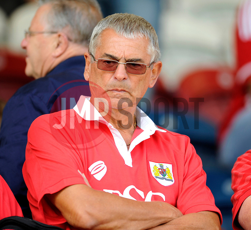 Bristol City fan - Photo mandatory by-line: Dougie Allward/JMP - Mobile: 07966 386802 23/08/2014 - SPORT - FOOTBALL - Manchester - Spotland Stadium - Rochdale AFC v Bristol City - Sky Bet League One