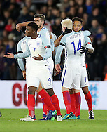 England's Lewis Baker celebrates scoring his sides second goal during the Under 21 International Friendly match at the St Mary's Stadium, Southampton. Picture date November 10th, 2016 Pic David Klein/Sportimage