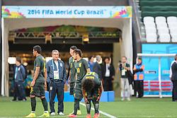 Parreira durante treino da Seleção Brasileira, em São Paulo, SP. A seleção enfrenta a Croácia amanhã na abertura da Copa do Mundo 2014. FOTO: Jefferson Bernardes