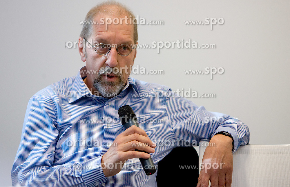 Guenther Ballinger of Spalding - UHLSport after he signed a new contract with Slovenian basketball federation at the press conference  in a Andel's Hotel during Eurobasket 2009, on September 15, 2009 in  Lodz, Poland.  (Photo by Vid Ponikvar / Sportida)