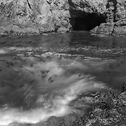 Sea Cave And Kelp Cove - Russian Gulch - Mendocino, CA - Infrared Black & White