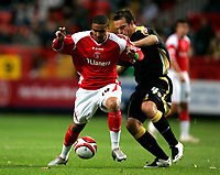 Photo: Tom Dulat/Sportsbeat Images.<br /> <br /> Charlton Athletic v Cardiff City. Coca Cola Championship. 10/11/2007.<br /> <br /> Jerome Thomas of Charlton Athletic and Gavin Rae of Cardiff City with the ball.