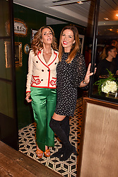 Left to right, Tara Bernerd and Heather Kerzner at a party to celebrate the publication of Place by Tara Bernerd held at il Pampero at The Hari, 20 Chesham Place, London, England. 8 March 2017.