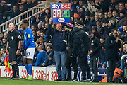 Local referee  Cliff Mills stands in as 4th official during the EFL Sky Bet League 1 match between Peterborough United and Rotherham United at London Road, Peterborough, England on 25 January 2020.