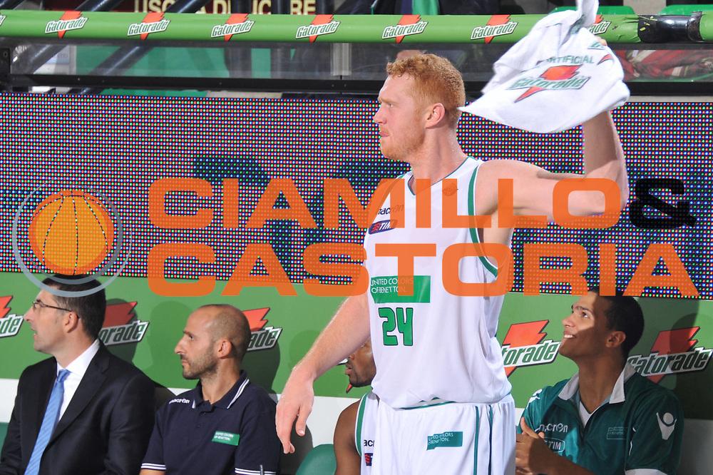 DESCRIZIONE : Treviso Lega A 2011-12 Benetton Treviso Bennet Cantu<br /> GIOCATORE : Brian Scalabrine<br /> CATEGORIA :  Esultanza Marketing Gatorade<br /> SQUADRA : Benetton Treviso Bennet Cantu<br /> EVENTO : Campionato Lega A 2011-2012<br /> GARA : Benetton Treviso Bennet Cantu<br /> DATA : 06/11/2011<br /> SPORT : Pallacanestro<br /> AUTORE : Agenzia Ciamillo-Castoria/M.Gregolin<br /> Galleria : Lega Basket A 2011-2012<br /> Fotonotizia :  Treviso Lega A 2011-12 Benetton Treviso Bennet Cantu<br /> Predefinita :