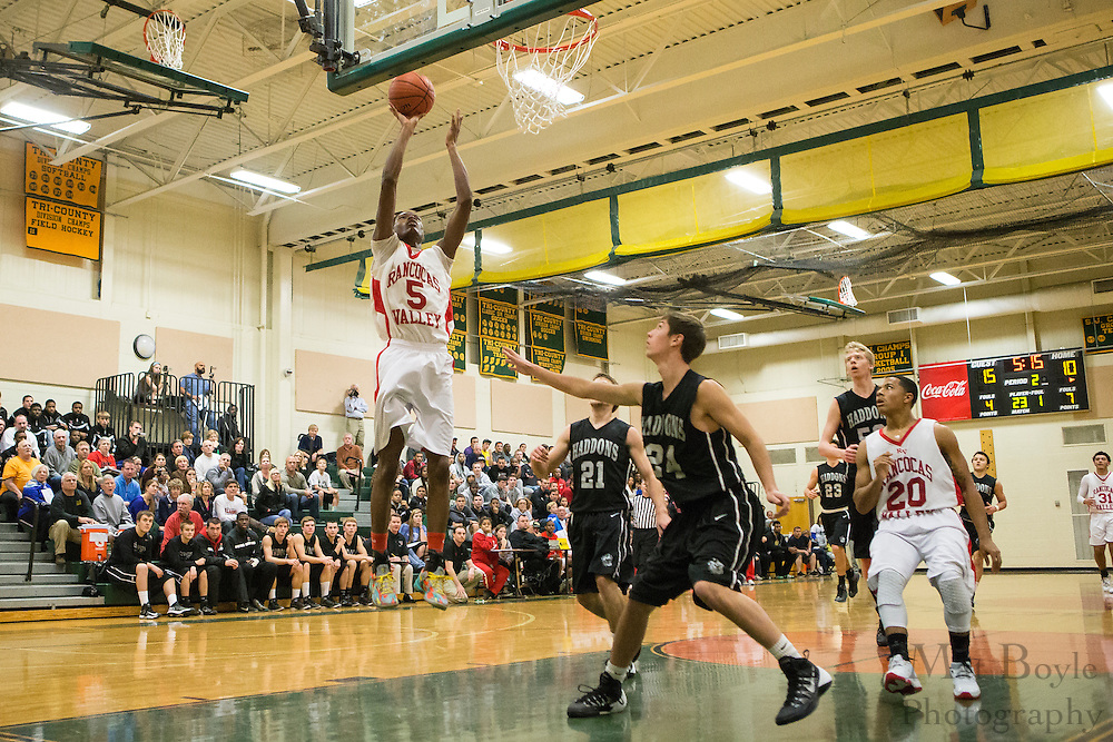 during a game between Rancocas Valley Regional High School and Haddonfield Memorial High School at Schalick High School in Pilesgrove Township, NJ on Saturday December 21, 2013. (photo / Mat Boyle)