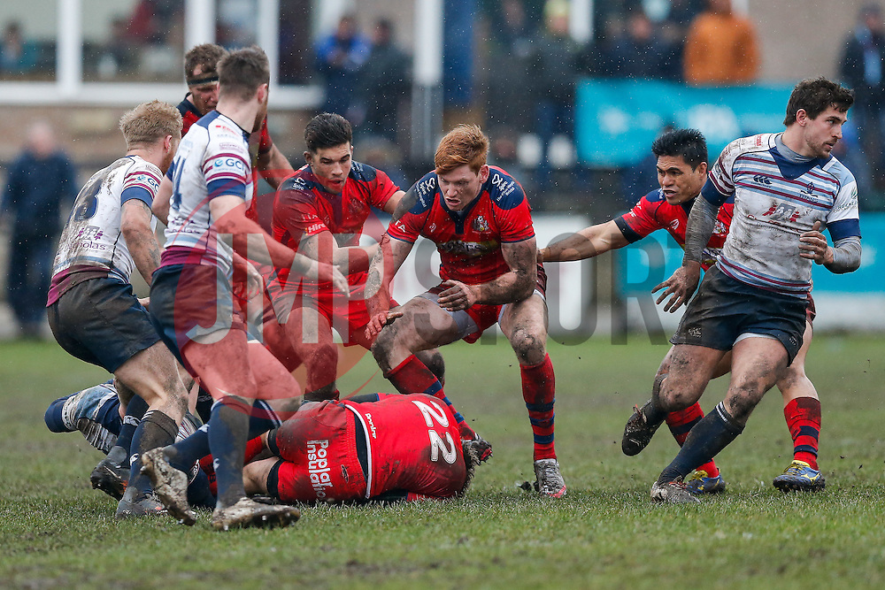 Bristol Rugby Outside Centre Jack Tovey in action - Mandatory byline: Rogan Thomson/JMP - 06/02/2016 - RUGBY UNION - Clifton Lane - Rotherham, England - Rotherham Titans v Bristol Rugby - Greene King IPA Championship.