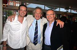 Left to right, JAMES MAJOR, DAVID ENGLISH and LORD ARCHER at a party to celebrate the publication on 'Confessions of a Dedicated Englishman' by David English held at the Lord's Tavern, St.John's Wood Road, London on 8th May 2006.<br />